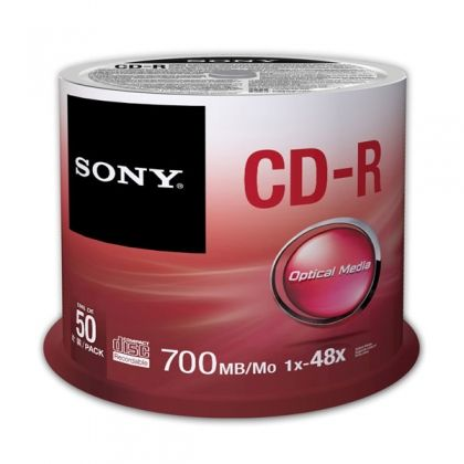 CD-R Sony 48x 700 MB 50 бр., шпиндел